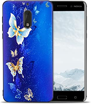 RosyHeart Funda Nokia 6 2017, Carcasa Nokia 6 Silicona, Suave ...
