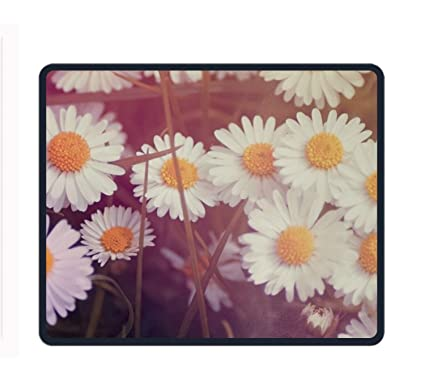 Gentil Vintage Flowers Wallpaper Mouse Pad (9.9x11.8 Inch), Printed Rubber Desk