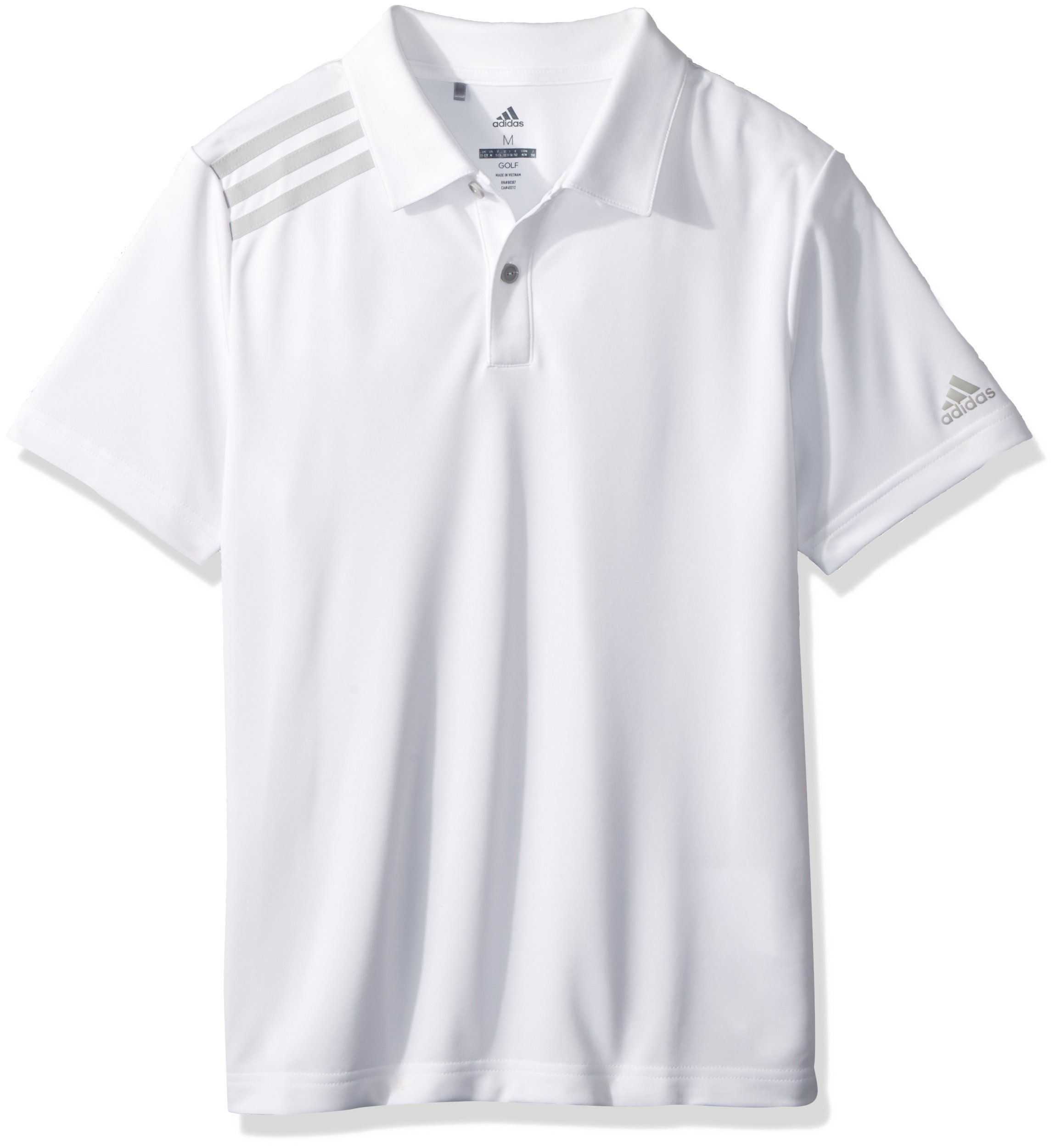 adidas Golf 3-Stripe Tournament Polo, White, Medium by adidas