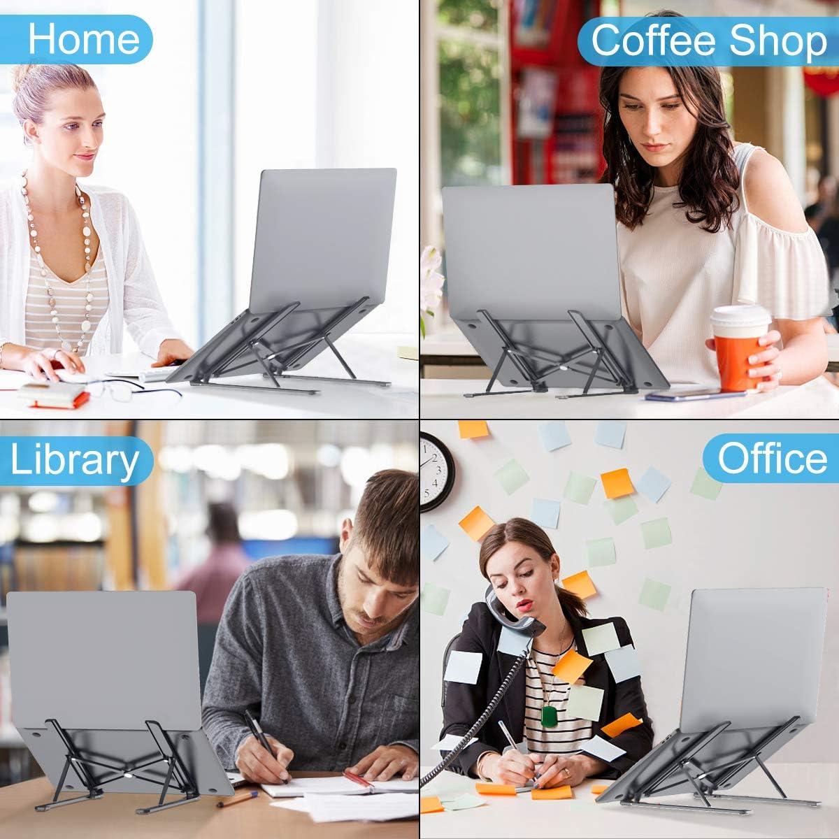 """HAPAW Supporto PC Portatile Cellulare XPS 5/""""/–18/"""" dell 8-Levels Regolabile Supporto Laptop Notebook Pieghevole Alluminio Porta Tablet PC Supporto Compatibile con MacBook Air//PRO iPad Lenovo HP"""