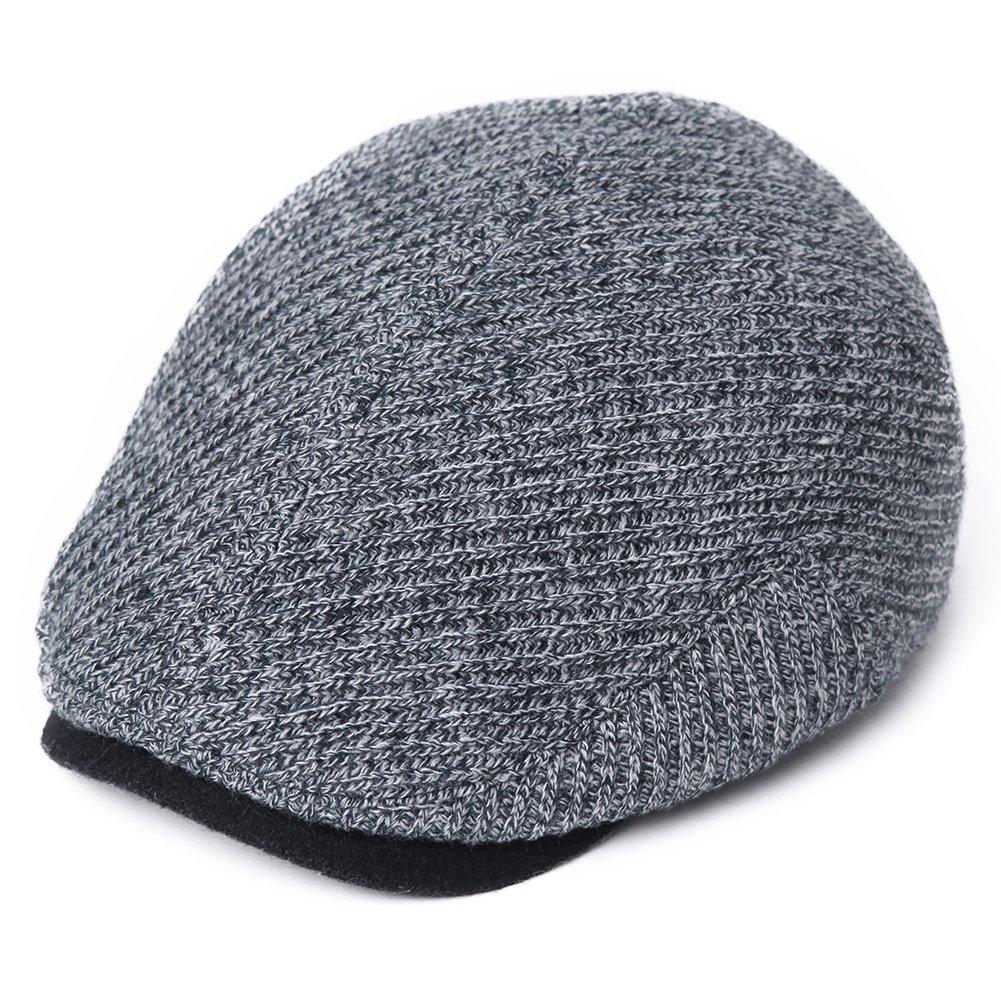 Siggi Mens Irish Wool Duckbill Ivy Flat Cap Newsboy Gatsby Driver Winter Hat (3 Colors,2 Sizes,57-60CM)