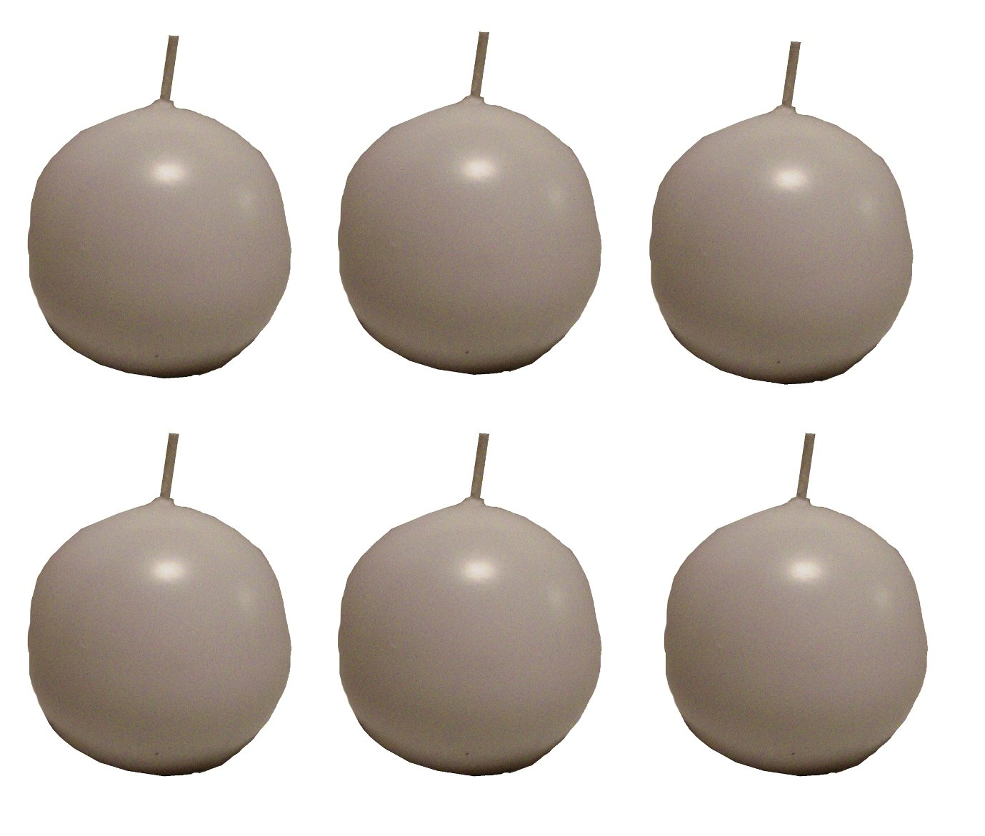 Biedermann & Sons 2-3/4-Inch Round-Shaped Candles, Burgundy, Set of 6 CBC-70BG