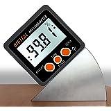 AUTOUTLET Digital Inclinometer Protractor 4x90° Level Box Angle Finder Backlight Level Gauge Bevel Gauge with Magnetic Based IN/FT,mm/m