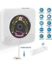 BACKTURE Lettore CD Portatile con Telecomando, Bluetooth 4.2/ /HiFi Altoparlanti/Radio FM/3.5mm Jack AUX/porta USB/Scheda Memoria SD, Lettore Musicale CD Supporto per MP3/CD/CD-R/CD-RW/WMA - Bianca