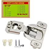 """STIANC Face Frame Soft Close 105° Compact Kitchen Cabinet Hinge (1/2"""" Overlay, 50 Pack)"""