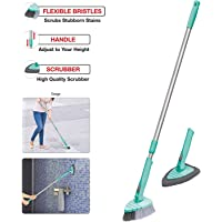 Spotzero By Milton Brush Scrubber Combo 180 Degree Movement With Extendable & Detachable Handle For Multipurpose Cleaning