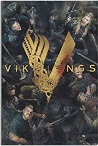 ZXZC Tv Show Poster Vikings Canvas Art Poster Picture Modern Office Family Bedroom Decorative Posters Gift Wall Decor Painting Posters 8×12inchs(20×30cm)