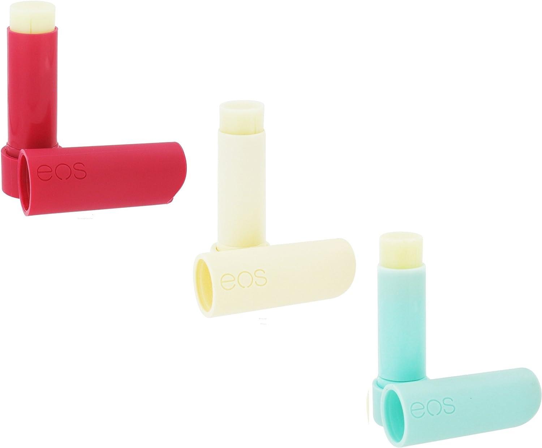 EOS Lip Balm Stick Pack: Pomegranate Raspberry, Vanilla Bean & Sweet Mint: Amazon.es: Electrónica