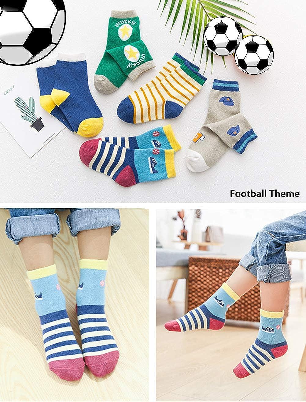 Toddler Kids Little Boys Fashion Cotton Crew Socks 10 Pack