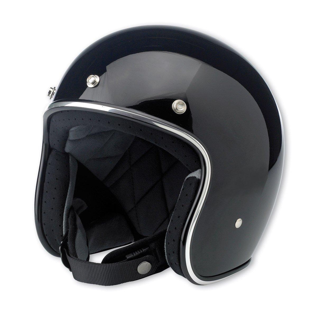 Inc Biltwell Bonanza Helmet Gloss Black BH-BLK-GL-DOT-XSM XS