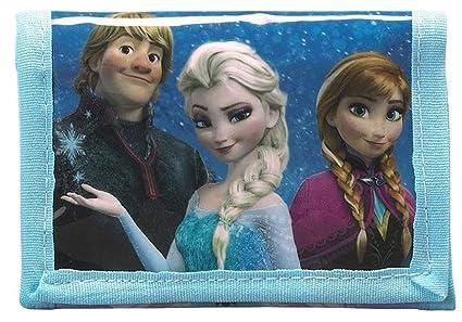 Disney Frozen Cartera Plegable con Cremallera Compartimento Característica Ana y Elsa