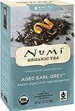 Numi Organic Tea Aged Earl Grey, Full Leaf Black Tea in non-GMO Tea Bags, 18-Count Box (Pack of 6)