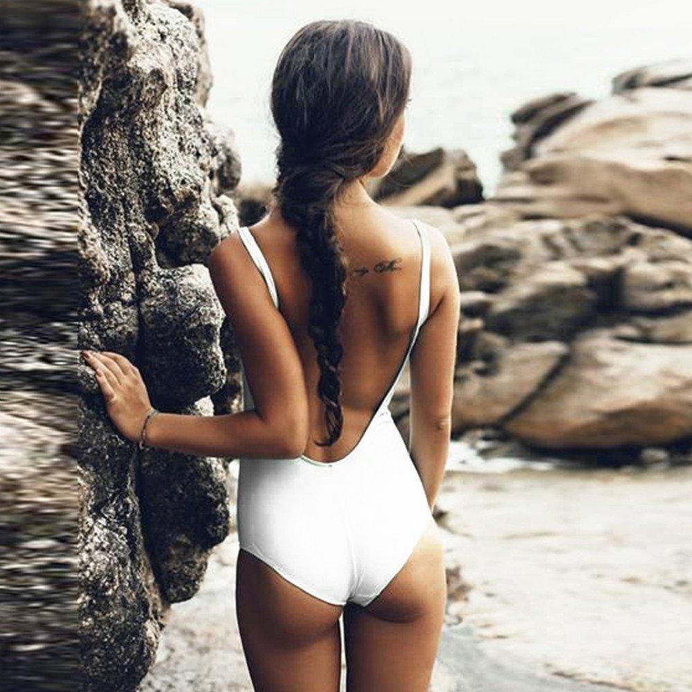 Solid High Cut Beachwear for Women One Piece Bathing Suits Tummy Control Monokini Swimsuit