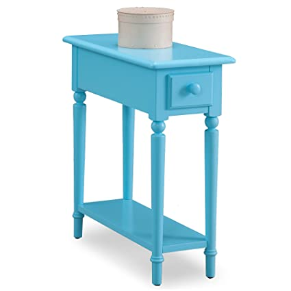 narrow chairside table with drawers leick 20017bl coastal narrow chairside table with shelf regatta blue amazoncom shelf