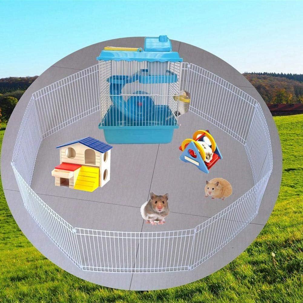 juman634 Hamster Parque Infantil Pequeña Mascota no tóxica Cerco de Hierro Jaula de Gran Actividad Espacio Libre Mascota para Hedgehog Guinea Pig Tortugas Gerbils