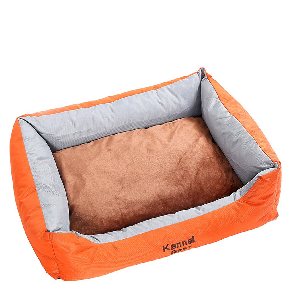 Huangyingui Friends Forever Premium Orthopedic Dog Bed Lounge, Removable Cover, Suede With Memory-Foam Base, Prestige Edition