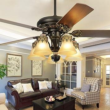 andersonlight de madera ventilador de techo salón Retro Elegante ...