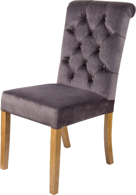 JTF Mega Discount Warehouse Sienna Velvet Dining Chairs Grey Set ...