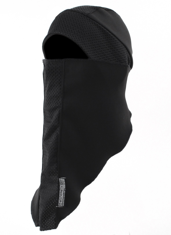 The Weatherneck System A Breakaway Balaclava, Black, Size adjustable