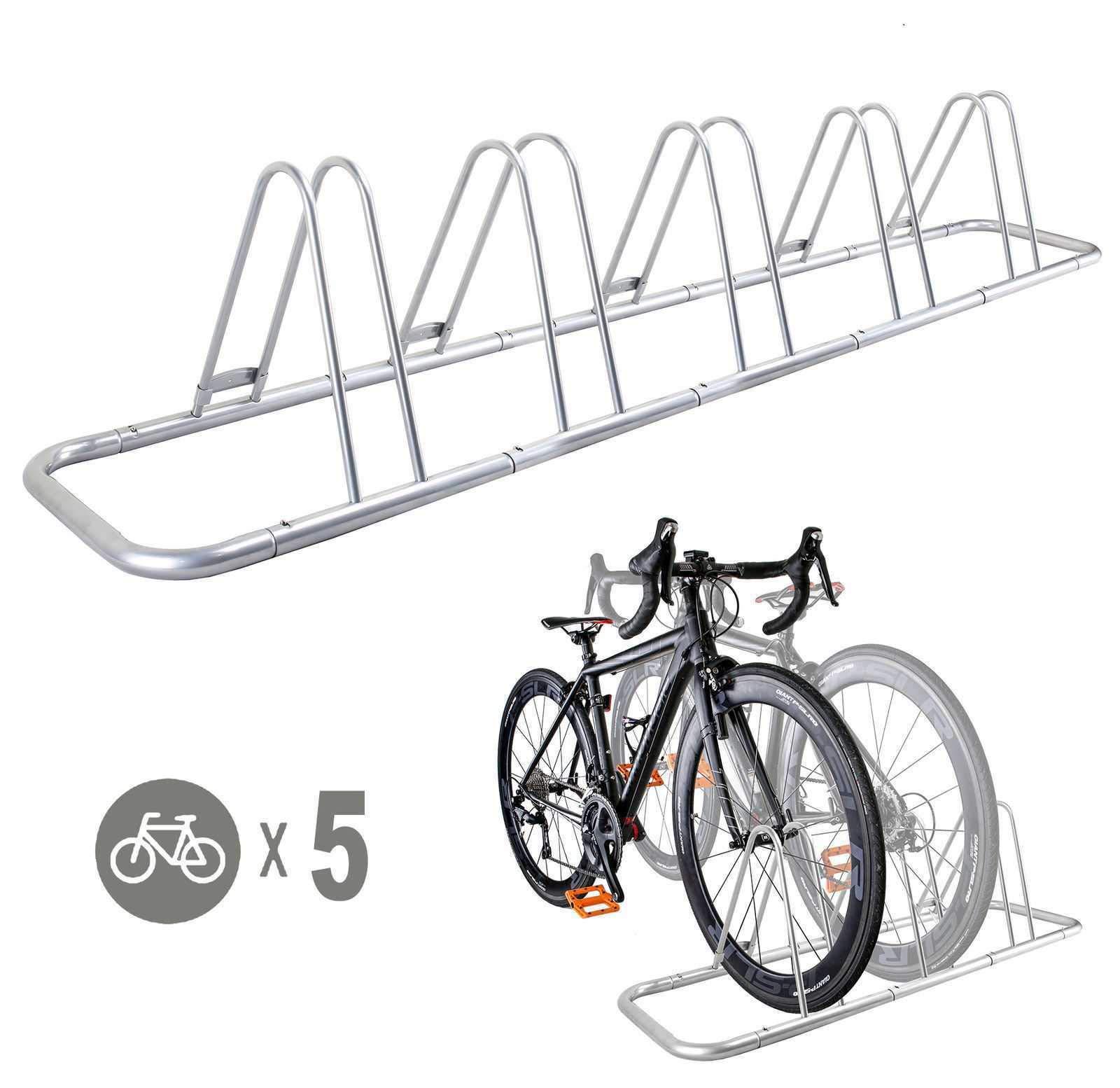 5 Bike Bicycle Floor Parking Rack Storage Stand by CyclingDeal