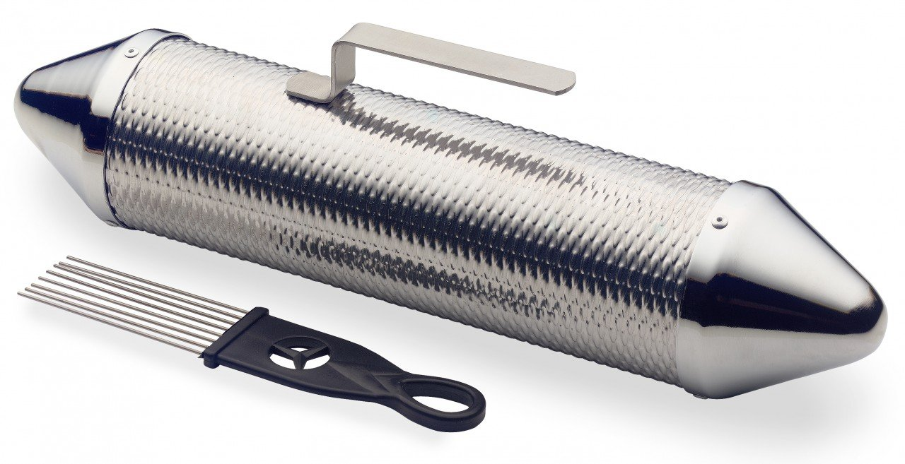 Stagg GUSM-15 15-Inch Metal Guiro Shaker with Scraper by Stagg