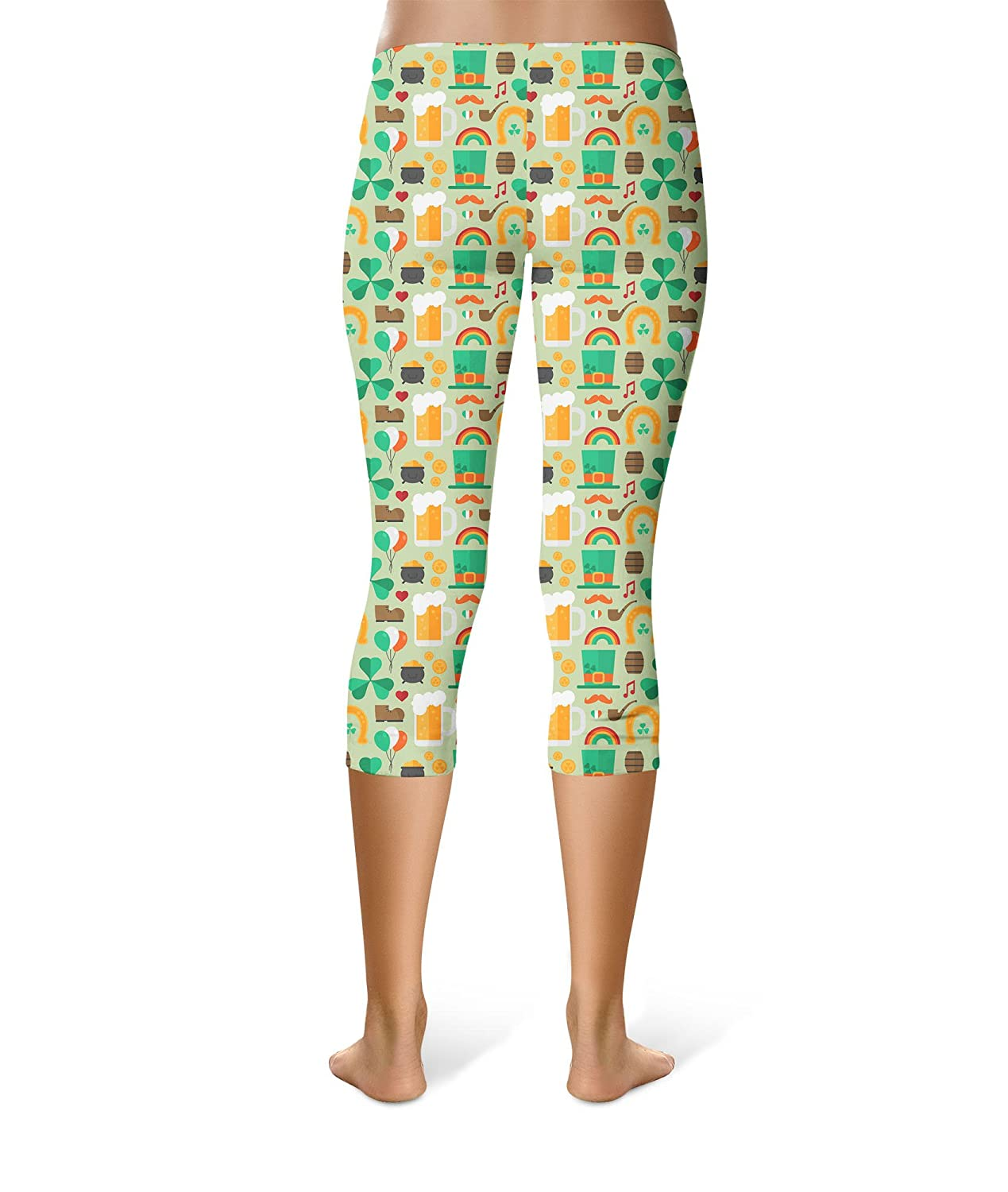 54d1776c1aceb6 Queen of Cases Lucky ST Patricks Day Capri Leggings XS-3XL Green at Amazon  Women's Clothing store: