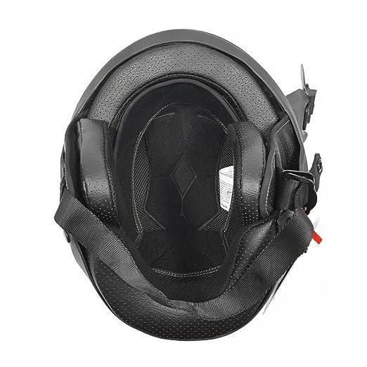 Amazon.com: Motorcycle Vader Street Helmet DOT Approved - Solid Matte Black - LARGE: Automotive