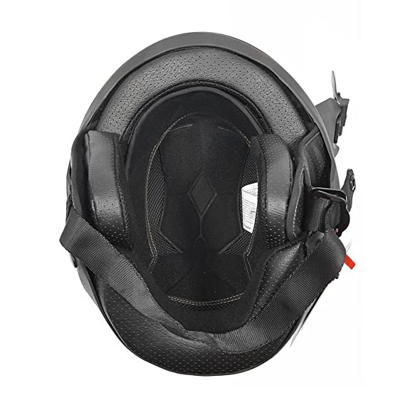 Amazon.com: Motorcycle Vader Military Green Street Open Face Helmet DOT Approved - Small: Automotive