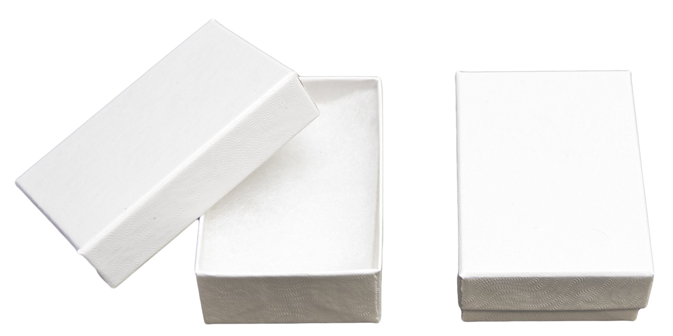 Novel Box MADE IN USA Jewelry Gift Box in White Swirl With Removable Cotton Pad 2.5X1.8X1'' (Pack of 25) + NB Cleaning Cloth by Novel Box (Image #1)