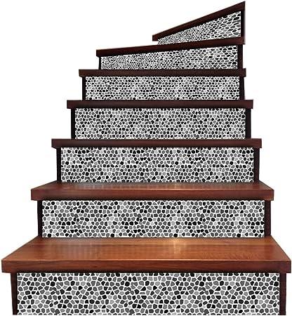 HUIJU 3D Escaleras Pegatinas, Piso Calcomanías Azulejo Casa De La Boda Casa Renovación Cocina Baño Extraíble 6 Piezas: Amazon.es: Hogar