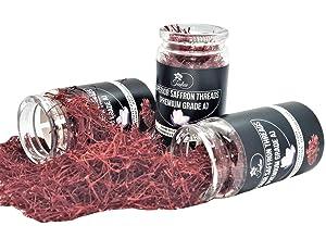 TEALUV Saffron Threads Finest Pure Premium All Red Saffron Threads, Grade A+, Highest Grade Saffron For Tea, Paella, Rice, Desserts, No artificial, No Preservatives - 5 Grams