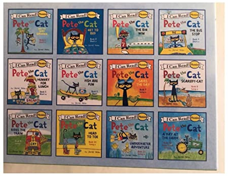 Amazoncom Pete The Cat Childrens Books Box Set I Can Read Phonics