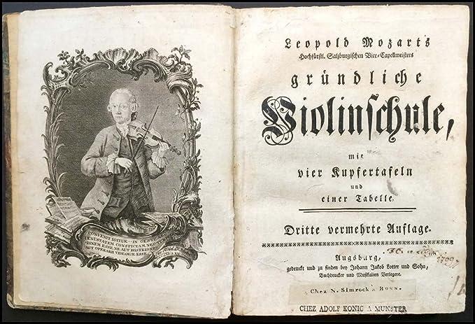 Amazon com: Mozart, Leopold  (1719-1787): [Versuch einer gründlichen