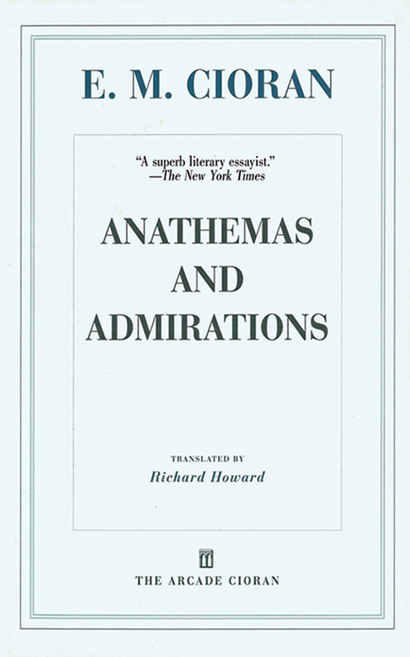 ANATHEMAS AND ADMIRATIONS EPUB