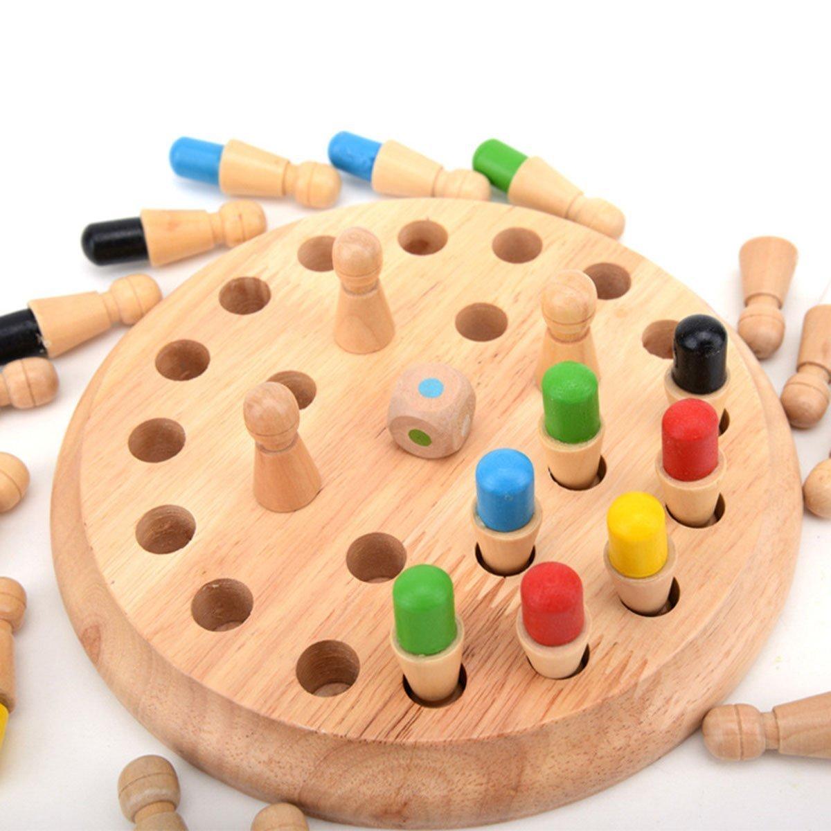 BIEE, gioco di memoria di scacchi di legno bastone Educazione di bambini puzzle 3D regalo di apprendimento giocattolo