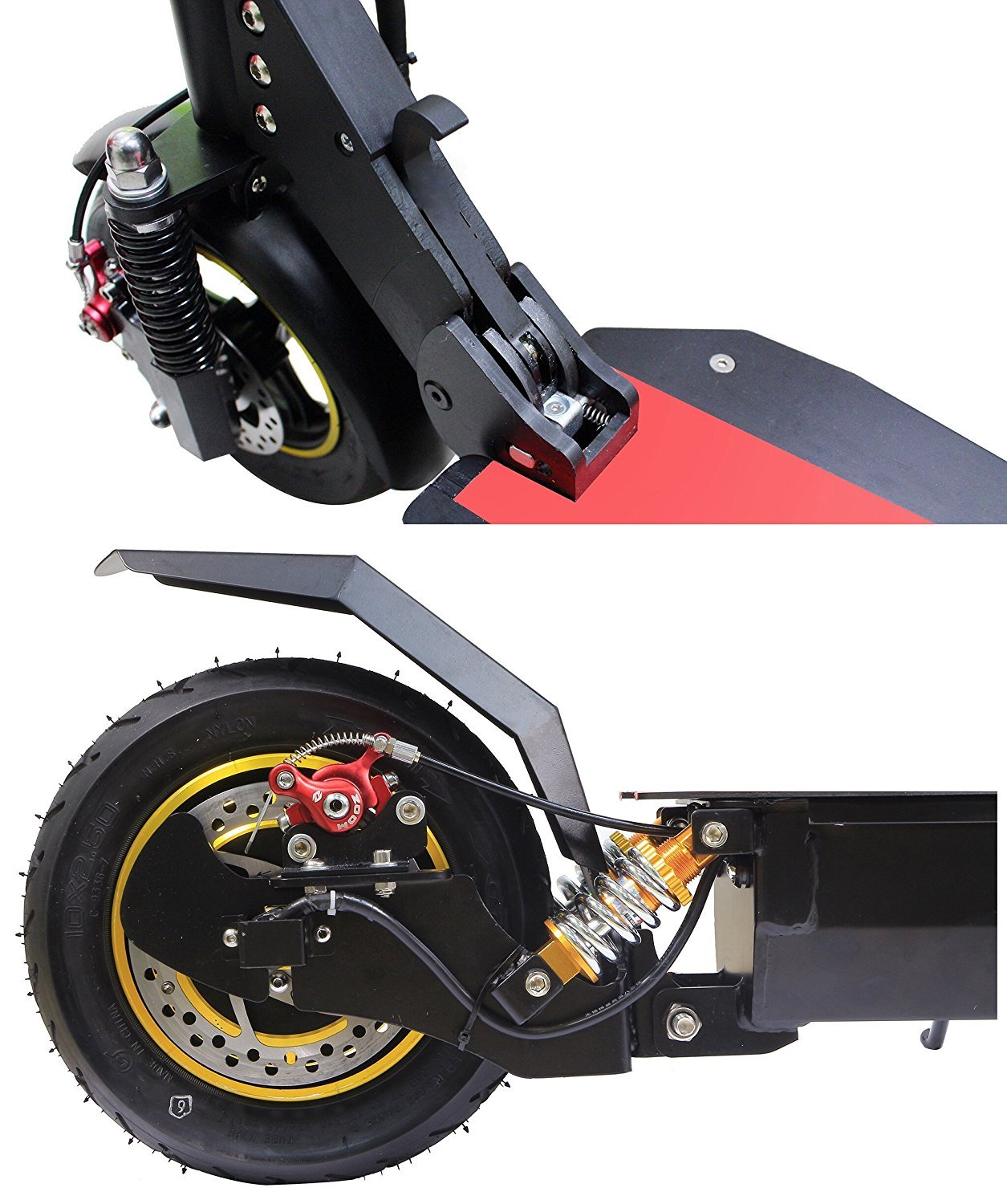 QIEWA Q1Hummer 800Watts 37MPH Electric Scooter with Dual Disk Brakes Max Driving Range Up to 65 Miles,550lbs Max Load Weight with 26Ah 48V Lithium ...