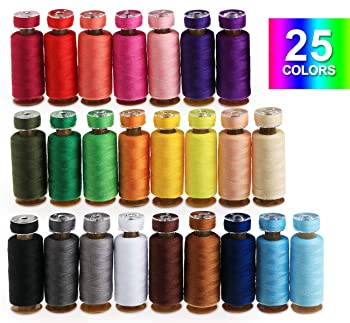 Ilauke 25 colors polyester sewing thread