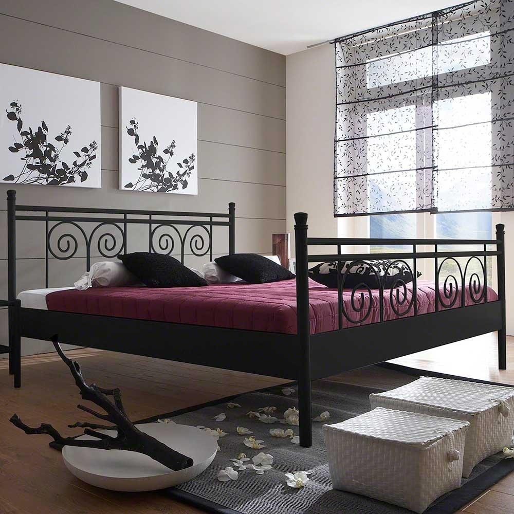 Pharao24 Bett für Jugendzimmer Schwarz Eisen Ausführung 7