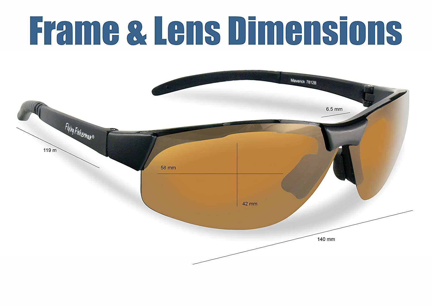 a262354e3b Amazon.com   Flying Fisherman Maverick Polarized Sunglasses (Matte Black  Frame