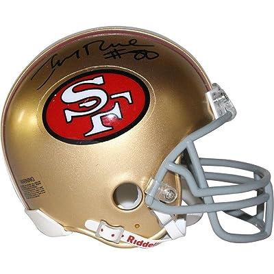 c8847f2d2 Jerry Rice Autographed San Francisco 49ers Mini Helmet - Authentic Signature