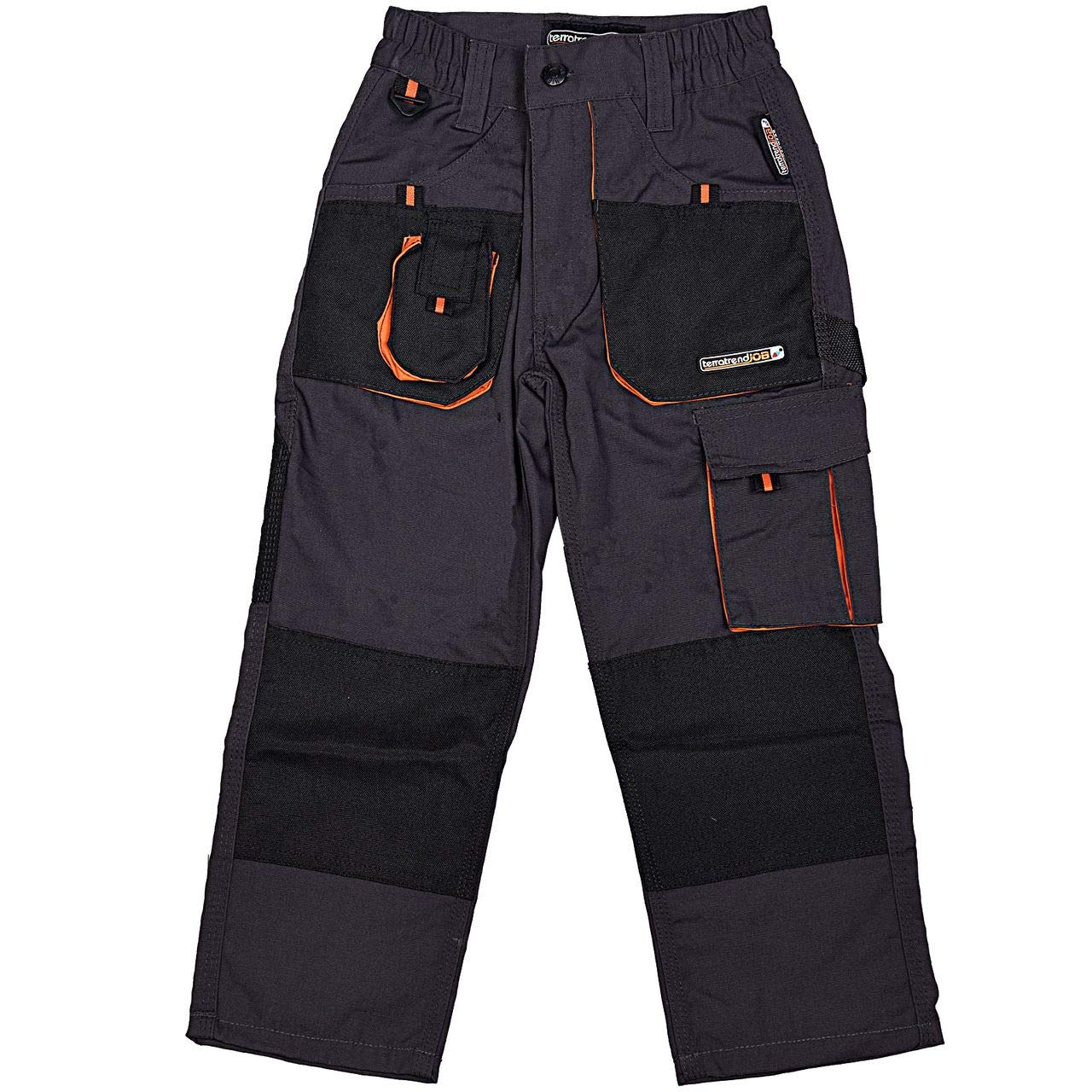 Terratrend Job 6230-140-6310 Pantalon d'Enfants Taille 140 Gris Foncé /Noir