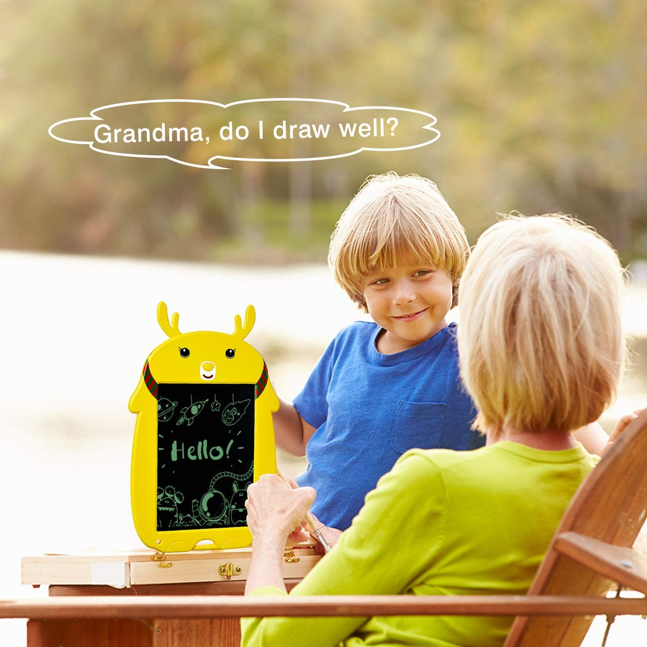 ELLIFA LCD Writing Tablet Electronic Drawing Board for Kids Gifts for 2-12 Year Old Girls//Boys Toys