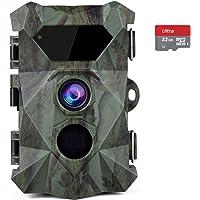 COOLIFE 2.7K 20MP Cámaras de Caza HD Fototrampeo Distancia de Disparo de hasta 35 m Velocidad de Disparo 0.1s Cámara de…