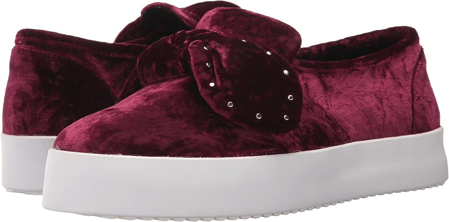 Rebecca Minkoff Women's Stacey Stud Bow Sneakers B0744NGG6M 5.5 B(M) US|New Acai Velvet