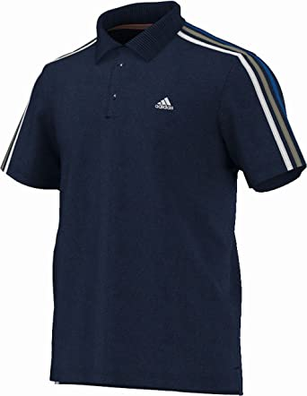 adidas Essentials, Herren Polohemd 3 Streifen, Marineblau