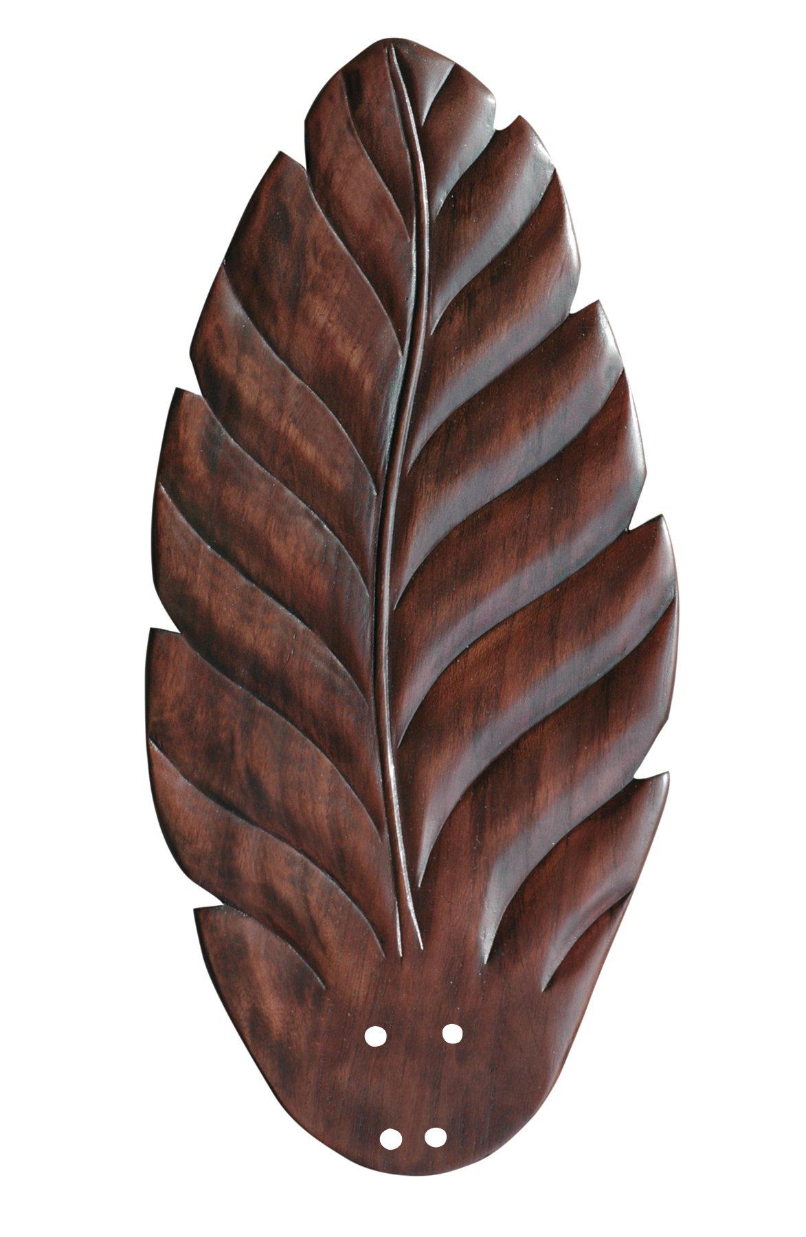 Emerson Ceiling Fans B109DC 22-Inch Hand Carved Leaf Indoor-Outdoor Ceiling Fan Blades, Dark Cherry, Damp Location, Set of 5 Blades