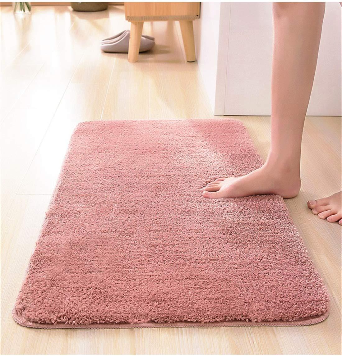 VJUKUBWINE Solide Farb-Kurzhaarkonzeln Baumwolle Bad Absorbent Boden Bedroom Soft Soft Soft Non-Slip Mat Washable Carpet Door Mat,Darkbraun,60X90cm B07KCBVGXJ Duschmatten d29a55