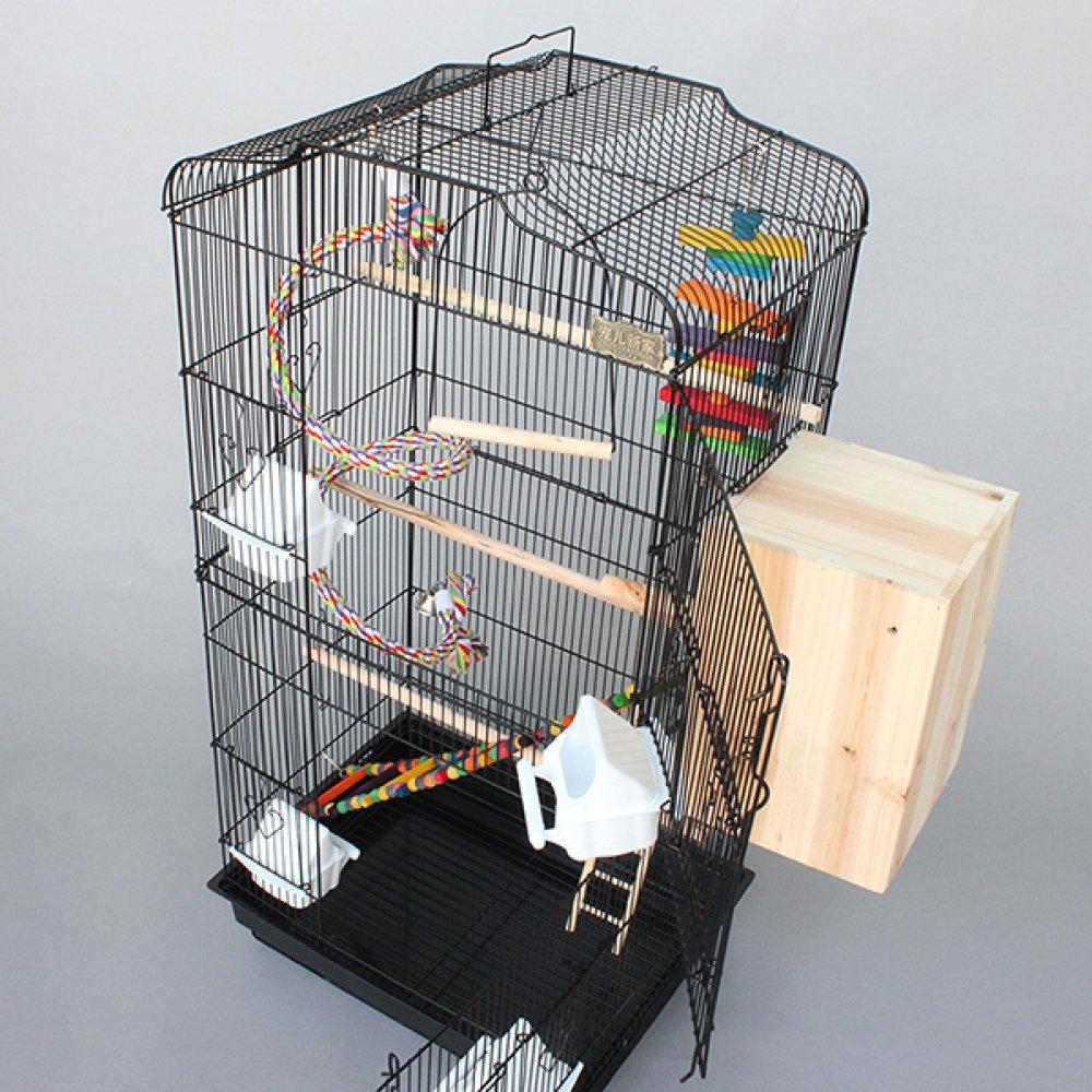 ZXT ZXT ZXT Gabbia per uccelli Gabbia per uccelli di lusso Gabbia per uccelli in gabbia di metallo con scatola di allevamento,nero,metallo 38c73c
