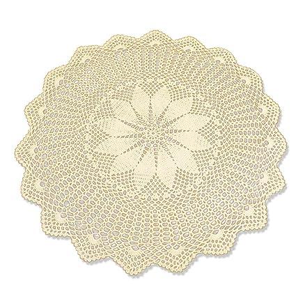 tidetex algodón encaje mantel redondo pequeño hecho a mano Crochet Hollow Out Funda para mesa blondas