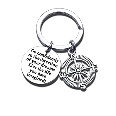 Hongyu8 Women Men Inspirational Jewelry Keychain Key Chain Ring Graduation  Gift 966ed84781